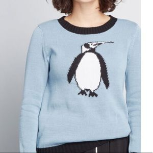 ModCloth Wouldn't it be Ice Penguin Sweater